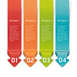 Colorful Origami Style Number Options Banner & Card. Vector illu