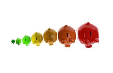 Piggy Bank energy class concept
