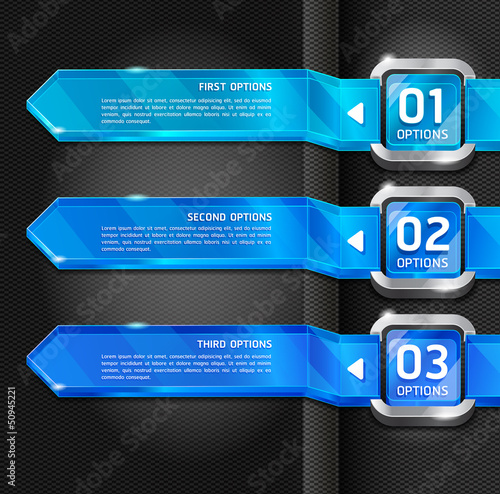 Blue Buttons Website Style Number Options Banner & Card Backgrou