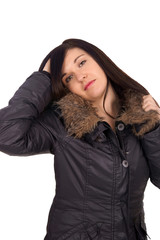 Woman in winter jacket