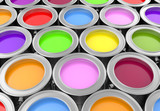 paint cans background, 3d render
