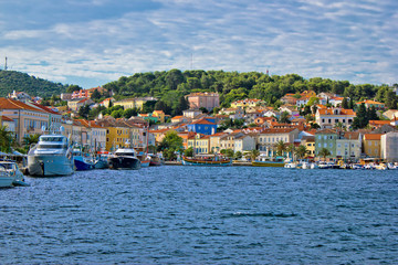 Colorful town of Mali Losinj waterfront