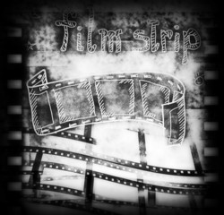 Old film strip frame background and texture