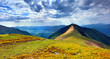Panorama of the Carpathian mountain at summer. Ukraine, Europe.