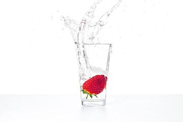 Erdbeere splash
