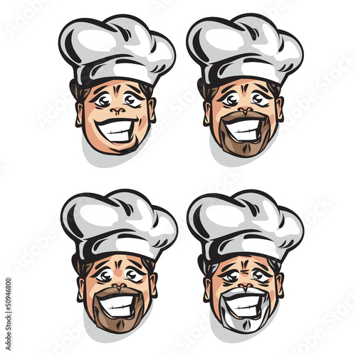 Cook. Vector illustration