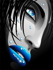 Water Blue Eyes Girl's Portrait-Ritratto Ragazza Occhi Blu