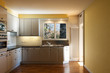 Interior apartment, kitchen with window