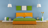Fototapety Colorful contemporary bedroom