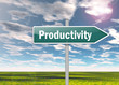 "Signpost ""Productivity"""