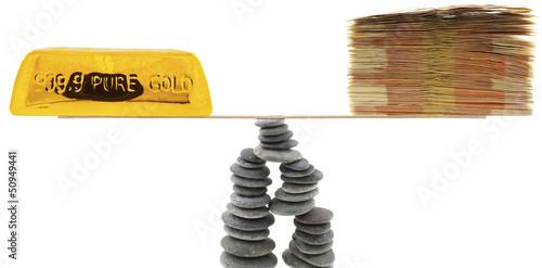 concept équilibre du cours de l'or
