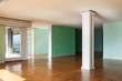 Interior, empty apartment in style classic, large room