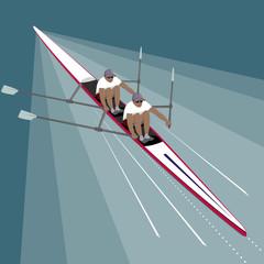 Rowing Teamwork Sport