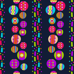 Seamless pattern with bright abstract shapes