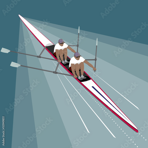 Rowing Teamwork Sport