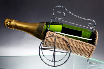 Sparkling White Wine Bottle, Champagne bottle