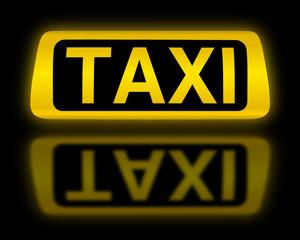 Taxi -Schild leuchtend