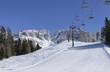 ski run and chair lift at Rosengarten, Costalunga pass