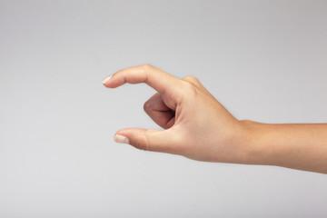 Hand symbol measuring