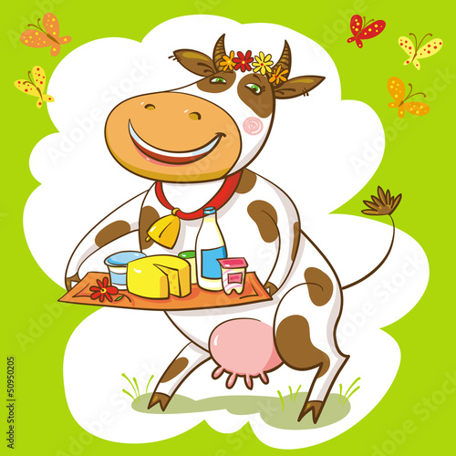 Happy Cow And Dairy Products.