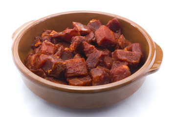 Carne roja adobada