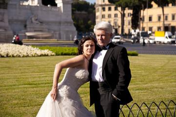 Vermähltes Paar  in Rom
