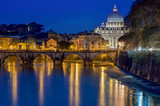 Rome landscape by night
