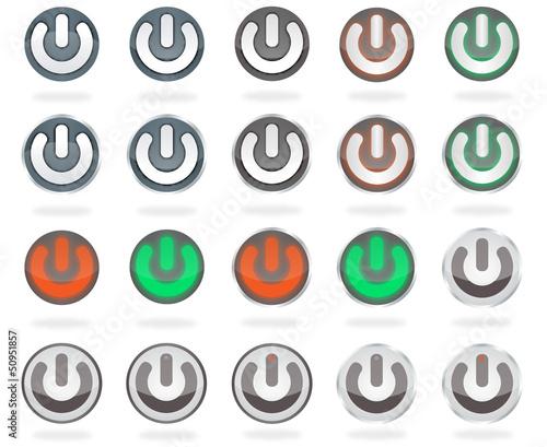 vector power buttons, bouton d'alimentation,power-Taste