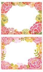 花の飾り枠