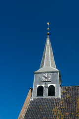 Dutch church tower with clock