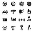 Car service maintenance icon set1. Vector illustration.