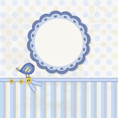 Baby Boy - Scrapbook - Place your text and photo