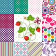 Collection seamless colorful patterns