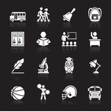 Education Icons set 3. Vector Illustration. More icons in my por
