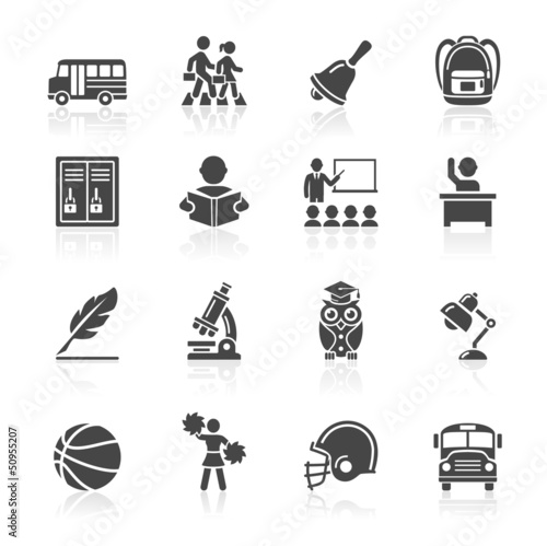 Education Icons set 3. Vector Illustration.