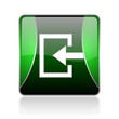enter black and green square web glossy icon