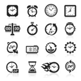 Clocks icons. Vector illustration