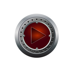 Metal Media Player Button