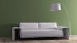 Modern interior with sofa animation