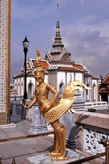 Mythical statue, Grand Palace, Bangkok, Thailand.