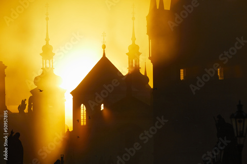 Autumn morning - Prague, Czech Republic