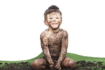 Kind arbeitet als Gärtner