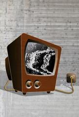 Tube television TV noise