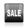 sale black square web glossy icon