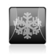 winter sale black square web glossy icon
