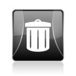 recycle black square web glossy icon