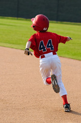 baseball boy running bases