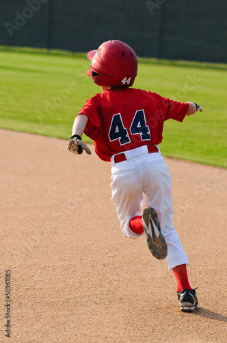 baseball boy running bases