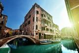 Fototapety street of Venice, Italy