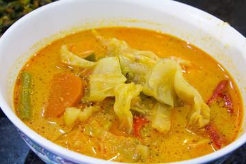 Nonya Sayur Lodeh Vegetable Soup Dish Closeup
